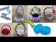 Plastik Şişe Kapağından Mini Sepet Yapımı // Making Basket from Plastic bottle cap - YouTube