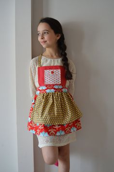 The Bowl Full of Jelly Apron by TheMintNeedle on Etsy, $28.00