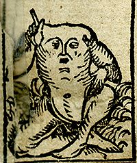 Blemmye - a headless creature with a face on its chest.