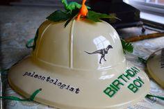 Birthday Boy Girl Personalized Paleontologist Pith Dinosaur Dig Egg Hunt Helmet 2 Dinosaurs Faux Foliage Gems Jurassic Park Birthday Number