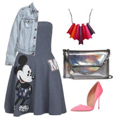 Mickey by valeria-verde on Polyvore featuring polyvore, fashion, style, Paul & Joe Sister, H&M, Kurt Geiger and STELLA McCARTNEY
