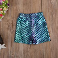 Magic Mermaid Stretchable Shorts from kidspetite.com!  Adorable & affordable baby, toddler & kids clothing. Shop from one of the best providers of children apparel at Kids Petite. FREE Worldwide Shipping to over 230+ countries ✈️  www.kidspetite.com  #shorts #clothing #toddler #girl Toddler Girl Shorts, Kids Shorts, Hot Dads, Daddys Little, Kids Clothing, Army Green, Countries, Hooded Jacket, Kids Outfits