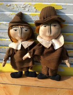 Primitive Pilgrims Set Mary and William by Rabbithollowprims, $24.26