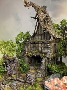 Tabletop World: Malwettbewerb Showcase Miniature Houses, Classic Rpg, Game Terrain, Medieval Houses, Painting Competition, Wargaming Terrain, Great Paintings, Minecraft, Arquitetura