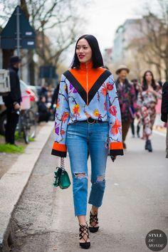 Tiffany Hsu Street Style Street Fashion Streetsnaps by STYLEDUMONDE Street Style Fashion Photography