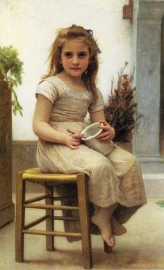 Le gouter-William Adolphe Bouguereau (1825 – 1905, French)