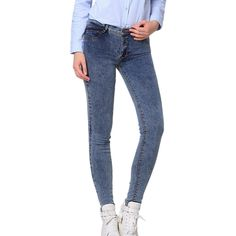 2016 Women Snowflake Casual Slim Vintage Denim Dark Light Blue Jeans Stretch Skinny Female Mid Waist Elastic Pants Plus Size #>=#>=#>=#>=#> Click on the pin to check out discount price, color, size, shipping, etc. Save and like it!