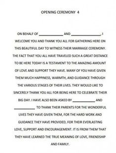 Quotes about Wedding : Wedding Quotes : Dreams Riveria Cancun Opening Ceremony script… –. Wedding Ceremony Ideas, Wedding Mc, Wedding Readings, Trendy Wedding, Wedding Bells, Perfect Wedding, Wedding Ceremonies, Mc Wedding Script, Wedding Speeches