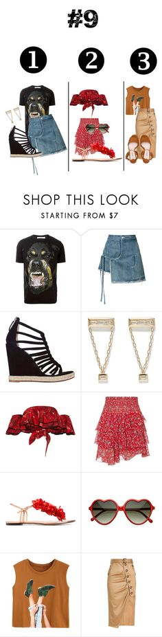 """Fashion survey #9: choose the best outfit"" by dayakarda ❤ liked on Polyvore featuring Givenchy, Sandy Liang, Jean-Michel Cazabat, Azlee, Johanna Ortiz, Exclusive for Intermix, Charlotte Olympia, self-portrait and Miu Miu"