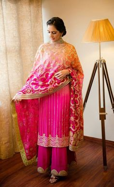New Punjabi Suit Design New Punjabi Suit, Punjabi Dress, Pakistani Dresses, Bridal Suits Punjabi, Punjabi Bride, Indian Suits, Indian Attire, Indian Wear, Embroidery Suits Punjabi