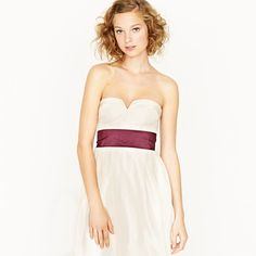 "This sash comes in ""Fawn"".. pretty with the simple J.Crew Dress."
