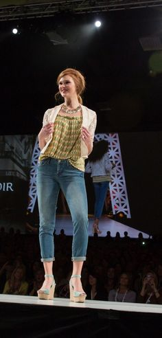 #CAbi Spring '13 Collection. Ruby jeans. Seahorse cami and the lacy jacket!  Great combination!