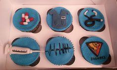 Cupcakes decorados para un doctor #medico #enfermera #nurse