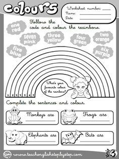 Colours - Worksheet 5 (B&W version)