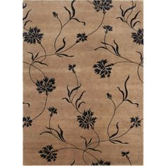 The stylish J2 Collection creates a beautiful living space. Graceful motifs, rich hues, modern and transitional design, timeless appeal. Casual elegance of 80-line Tibetan hand-knotted wool with art silk accents adds plush quality to the deep tan colour.