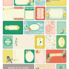 Spring Themed Cards - Project Life www.BeckyHiggins.com/shop