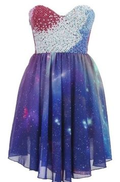 Beaded Bandeau Galaxy Dress: I finally found a replacement for the disapointment that was formerly a photoshopped dress. This one looks so close and I would still wear it. Cute Dresses, Short Dresses, Prom Dresses, Beaded Dresses, Dress Prom, Evening Dresses, Formal Dresses, Dress Outfits, Dress Up