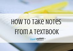 How To Take Notes From A Textbook #studyspo