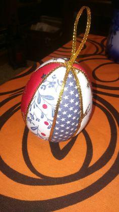 Huevo navidad falso patchwork