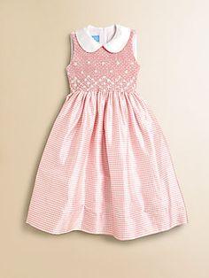Anavini Girls Sabine Gingham Silk Dress