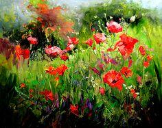 """JOY  OF  SUMMER by Scott Mattlin Oil ~ 24"""" x 30"""""""