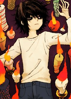 firm believer in the notion that anime was a mistake. Death Note デスノート, Death Note Fanart, Pretty Art, Cute Art, Arte Punk, L Lawliet, Aesthetic Anime, Anime Characters, Drawing Hair