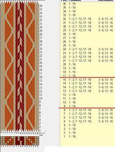 18 tarjetas, 3 colores, repite cada 8 movimientos // sed_455 diseñado en GTT༺❁