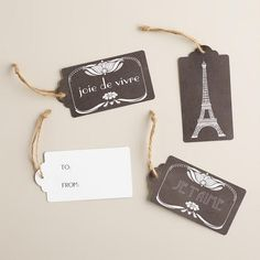 One of my favorite discoveries at WorldMarket.com: Black and White Parisian Kraft Gift Tags, Set of 3