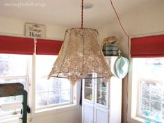 Diy Doily Lace Swag Light Hanging Lights Decorations Creative