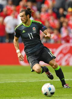 Gareth Bale of Wales in action during the UEFA EURO 2016 Group B match between England and Wales at Stade Bollaert-Delelis on June 16, 2016 in Lens, France.