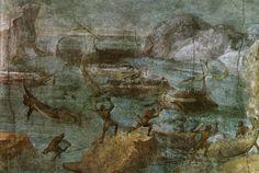 Casa di Via Graziosa - Scena dell'Odissea (Attacco dei Lestrigoni) - I secolo A.C.