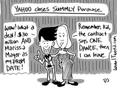 Marissa Mayer personally closes the Summly purchase.  That and other silly tech jokes in ITworld's Weekly Hash.  http://www.itworld.com/it-management/350161/weekly-hash-march-29-2013?source=itwpinterest  Image credit: ITworld/Phil Johnson