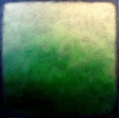 ARTFINDER: Green Icon by Liz McDonough - An abstract response to many Icons witnessed the Monastery of Meteora, Greece. This canvas is small.... but with a very deep width giving a great 3D effect