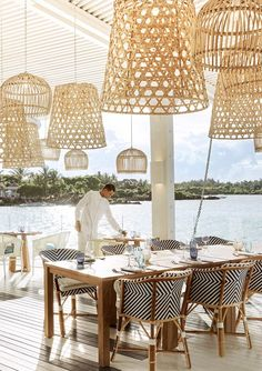 The Kelly Hoppen team achieved their vision of contemporary, paradise living transforming the luxury retreat, LUX* Grand Gaube in Mauritius. Beach Hotels, Hotels And Resorts, Luxury Hotels, Lux Grand Gaube, Mauritius Resorts, Best Interior, Interior Design, Grande Hotel, Vogue Living