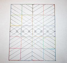 Diamond straight line quilting pattern