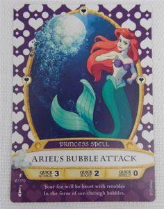 Disney-Sorcerers-of-the-Magic-Kingdom-Lightning-Card-61-Ariels-Bubble-Attack