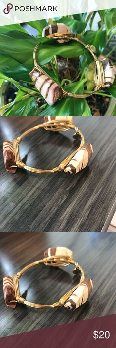 Beautiful Bourbon and Bowties Bracelet Gorgeous Brown and Cream Stone. Never worn. Non smoking home. Bourbon and Bowties Jewelry Bracelets
