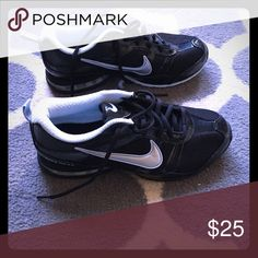 Nike Reax women's running shoes Black with light blue and silver accents. Never worn Nike Shoes Athletic Shoes