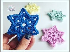 VERY SIMPLE crochet stars / great for beginners - Knitting for Beginners Beginner Knitting Projects, Easy Sewing Projects, Easy Knitting, Knitting For Beginners, Start Knitting, Double Crochet, Easy Crochet, Christmas Crochet Blanket, Blanket Crochet