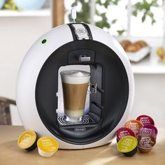 Take a well-deserved break with DeLonghi Nescafe Dolce Gusto Circolo Single Serve Coffeemaker and enjoy great coffees, lattes, cappuccinos, iced drinks and more. Coffee And Espresso Maker, Coffee Brewer, Coffee Maker, I Drink Coffee, Coffee Time, Black Kitchen Decor, Home Technology, Nescafe, Great Coffee
