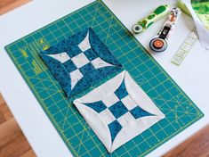 """Learn the """"ins and outs"""" of perfectly squaring up quilt blocks and borders from the inside out. On Craftsy!"""