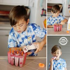 Simple Healthy Cream Pops. Great for kids to make!