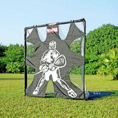 Net Playz 6âu20ac™X6âu20ac™ Portable Fiberglass Lacrosse Goal With Target Panel,