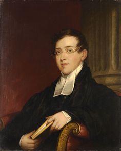 Gilbert Stuart (American, 1755-1828) and Jane Stuart (American, c.1812-1888), Reverend Samuel Farmer Jarvis, c. 1817-1828. Oil on wood, 32 ¾ x 26 ¼ in.