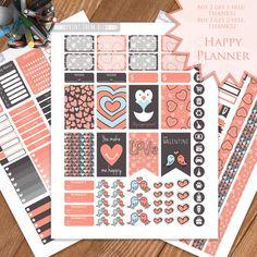 Valentine Planner Stickers Printable by PrintThemAllStudio on Etsy