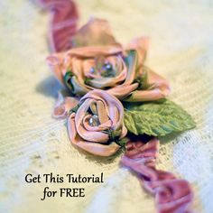 crazy quilting - ribbon flower tutorial