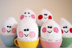 Easter Eggs Free Amigurumi Pattern  http://www.thepudgyrabbit.com/2013/03/crochet-easter-eggs.html
