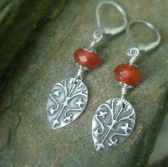 Medieval Carnelian Earrings