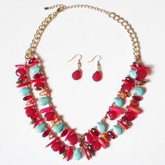 Hot & Cold Stone Necklace   Lemon Drop Boutique   $26.00