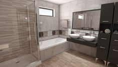 Corner Bathtub, Interior Design, Bathroom, Decor, Modern, Nest Design, Washroom, Decoration, Corner Tub
